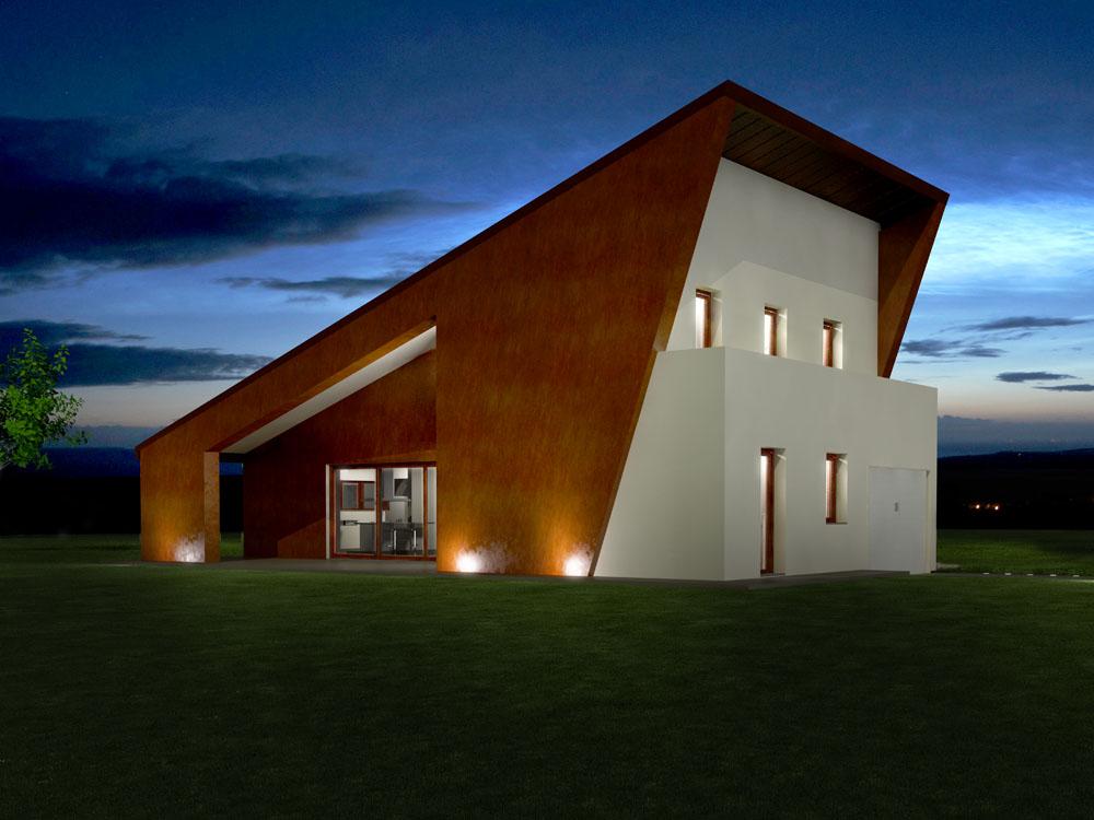 Rendering esterni presentazione 3d studio grafico - Architettura case moderne idee ...