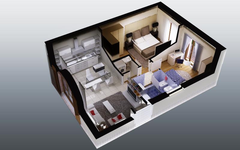Planimetria 3d fotorealismo render planimetrie for Planimetrie di case personalizzate