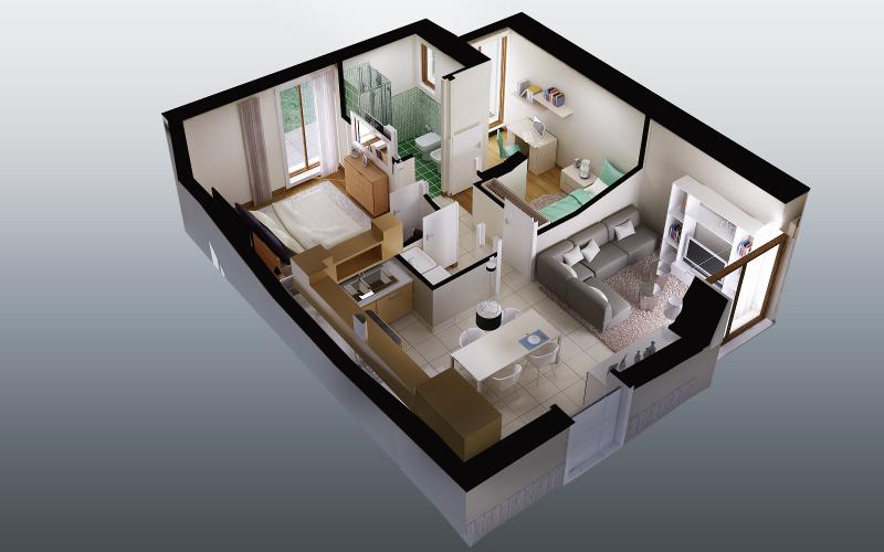 planimetria 3d fotorealismo render planimetrie